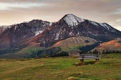 Romantische Ansicht der österreichischen Alpen Stockfoto
