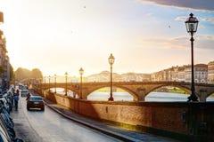 Romantische Ansicht der Kunst in Florenz Italien stockfotografie