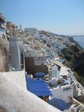 Romantische Ansicht Santorini stockfotos
