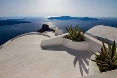 Romantische Ansicht von wunderbarem Santorini, Griechenland lizenzfreie stockfotos
