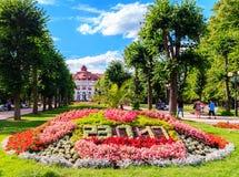 Romantische Architektur von Böhmen, Karlovy Vary lizenzfreie stockfotografie