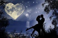 Romantische Atmosphäre des Valentinsgrußes Stockfoto