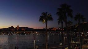 Romantische avond in Malaga stock foto's