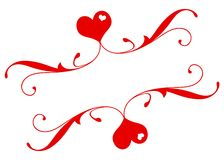 Romantische Banner Royalty-vrije Stock Foto's