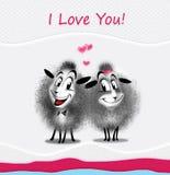 Romantische bericht e-kaart Stock Afbeeldingen