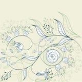 Romantische bloemenachtergrond Stock Foto