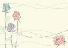 Romantische bloemenachtergrond Stock Afbeeldingen