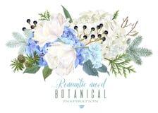 Romantische bloemensamenstelling Stock Afbeelding