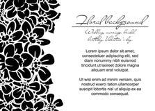 Romantische bloemenuitnodiging Royalty-vrije Stock Foto's