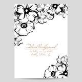 Romantische bloemenuitnodiging Royalty-vrije Stock Fotografie