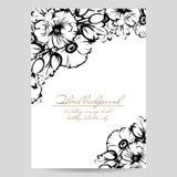 Romantische bloemenuitnodiging Royalty-vrije Stock Afbeeldingen