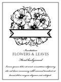Romantische bloemenuitnodiging Stock Fotografie