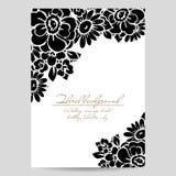 Romantische bloemenuitnodiging Royalty-vrije Stock Afbeelding