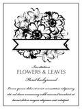 Romantische bloemenuitnodiging Royalty-vrije Stock Foto