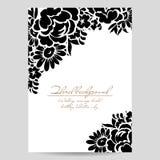 Romantische bloemenuitnodiging Stock Foto's