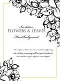 Romantische bloemenuitnodiging Stock Foto