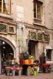 Romantische bloemwinkel stock foto