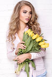 Romantische blonde Dame Lizenzfreies Stockbild