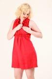 Romantische blonde Frau Lizenzfreie Stockbilder