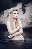 Romantische blonde Frau Lizenzfreies Stockbild