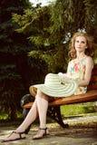 Romantische blonde Frau Stockbilder