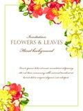Romantische Blumeneinladung Lizenzfreie Stockfotos
