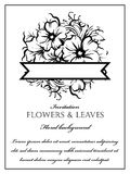 Romantische Blumeneinladung Lizenzfreies Stockfoto