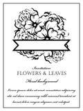 Romantische Blumeneinladung stockfotos