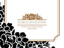 Romantische Blumeneinladung lizenzfreies stockbild