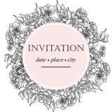 Romantische botanische uitnodiging Royalty-vrije Stock Foto's