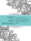 Romantische botanische uitnodiging Stock Foto's