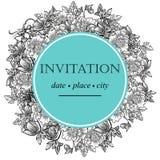 Romantische botanische uitnodiging Stock Afbeeldingen