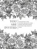 Romantische botanische uitnodiging Royalty-vrije Stock Afbeeldingen