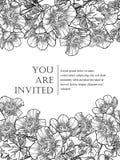 Romantische botanische uitnodiging Royalty-vrije Stock Afbeelding