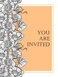 Romantische botanische uitnodiging Royalty-vrije Stock Foto