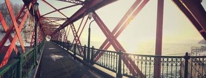 Romantische brug Stock Foto