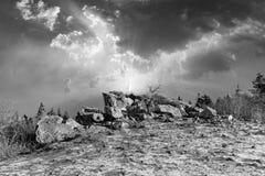 romantische Brunhildis-rots bij de bovenkant van Feldberg royalty-vrije stock foto