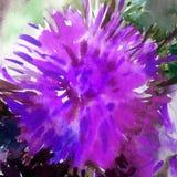 Romantische bunte strukturierte nasse Oberflächenwäsche Aquarellkunsthintergrundzusammenfassungsder schönen Blumenblumendahlie ve Lizenzfreie Stockfotos