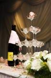 Romantische champagnetoren Royalty-vrije Stock Afbeeldingen