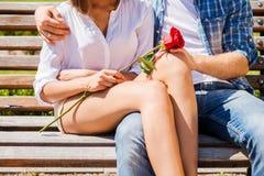 Romantische datum Royalty-vrije Stock Afbeeldingen