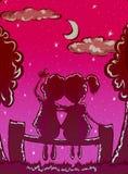 Romantische datum De dag van de valentijnskaart `s royalty-vrije illustratie