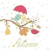 Romantische de herfstkaart Stock Foto