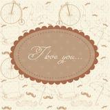 Romantische de uitnodigingsprentbriefkaar van de Valentijnskaart Royalty-vrije Stock Foto