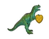 Romantische dinosaurus Stock Afbeeldingen