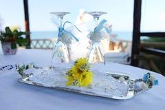 Romantische Dranken voor Twee royalty-vrije stock afbeelding