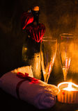 Romantische Einstellung des Badekurortes für Valentinsgrußtag Stockfotografie