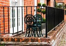 Romantische Engelse binnenplaats Royalty-vrije Stock Foto's