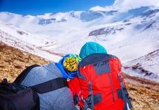 Romantische extreme Winterferien Stockbild