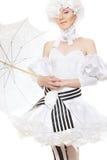 Romantische fairytalevrouw. Halloween, cosplay kostuum Royalty-vrije Stock Fotografie