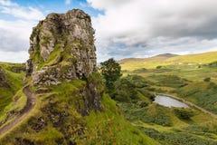 Romantische Feenauwe vallei Royalty-vrije Stock Afbeeldingen